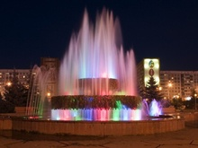 Fountain at building of Administration of city